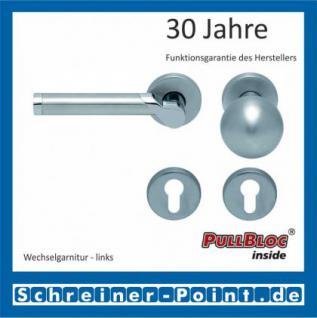 Scoop Fina II PullBloc Rundrosettengarnitur, Edelstahl poliert/Edelstahl matt, Rosette Edelstahl matt - Vorschau 5