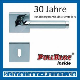 Scoop Fina II quadrat PullBloc Quadratrosettengarnitur, Edelstahl poliert/Edelstahl matt, Rosette Edelstahl poliert
