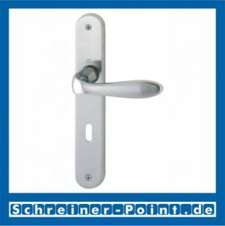 Hoppe Genova Langschild-Garnitur F45-R satiniert/poliert verchromt, M1535/265, 2803561, 2670454, 2803595, 2804803, 2522398, 2804838