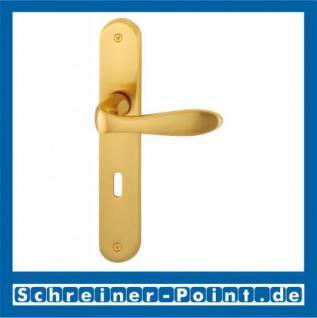 Hoppe Genova Langschild-Garnitur F75-R Messing satiniert/poliert, M1535/265, 2803587, 2803616, 2804811, 2804862 - Vorschau 1
