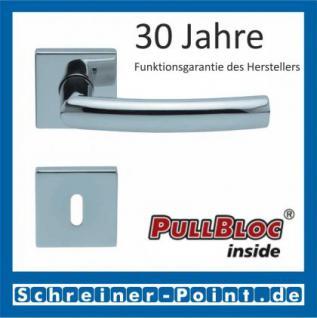 Scoop Geo quadrat PullBloc Quadratrosettengarnitur, Rosette Edelstahl poliert