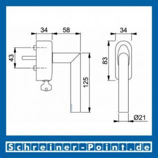 Hoppe Amsterdam Edelstahl Fenstergriff F69 abschließbar Secustik, E1400Z/US950S 100Nm, 2548192, 3085361 - Vorschau 2