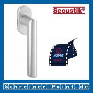 Hoppe Amsterdam Aluminium Fenstergriff F1-2 Natur matt Secustik 0400/US956, 2070942