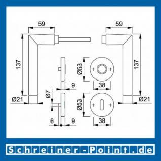 Hoppe Amsterdam Aluminium Rosettengarnitur F1 Natur 1400/42KV/42KVS, 3389293, 1773603, 3389314, 1773654, 3389322, 1773671, 3390454 - Vorschau 5