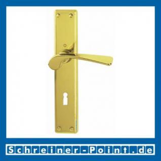 Hoppe Bern Langschild-Garnitur Messing poliert F71 M158/311, 800254, 800278, 6500847, 6587893, 6587943