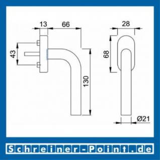 Hoppe Bonn Edelstahl Fenstergriff F69 E050/U30 - Vorschau 2