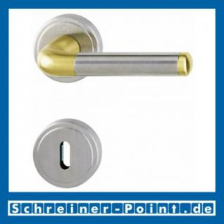 Hoppe Cortina Messing matt / Edelstahl matt F72/F69 Rosettengarnitur M195/15KV/15KVS, 816071, 6907802, 6907810, 6908651,