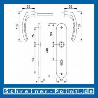 Hoppe Luxembourg Aluminium Langschildgarnitur F1 Natur 199/273P, 2962019, 2962043, 2962060, 2806551 - Vorschau 5