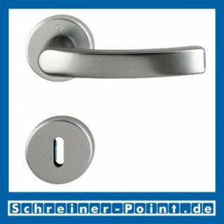Hoppe Luxembourg Aluminium Rosettengarnitur F9 Stahlfarben 199/42KV/42KVS, 2962182, 1984911, 2962191, 2962211, 1984929, 2801830