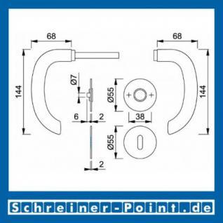 Hoppe Marseille Edelstahl Flachrosettengarnitur F69 E1138Z/849/849S-SK , 3189494, 3190022, 3190031, 3190049 - Vorschau 4