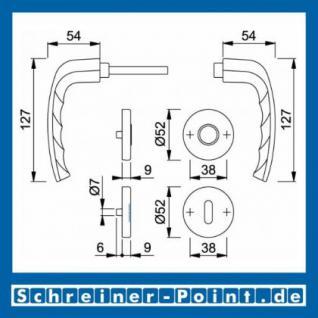 Hoppe New York Aluminium Rosettengarnitur F1 Natur 1810/42KV/42KVS, 3273207, 3273223, 3273258, 3273291 - Vorschau 5