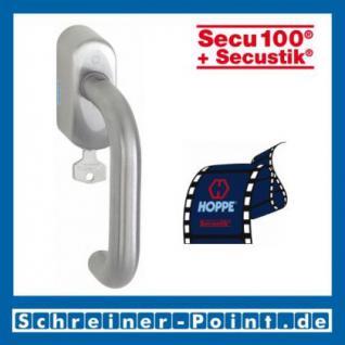 Hoppe Paris Edelstahl Fenstergriff F69 abschließbar Secustik E138Z/US950S (100Nm)