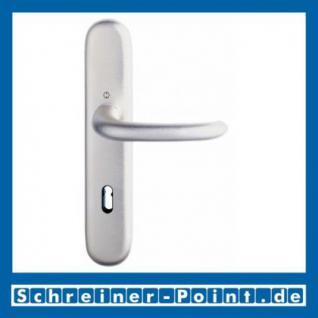 Hoppe Strasbourg Aluminium Langschildgarnitur natur Struktur 173/273, 64911427, 6571293, 6491682, 6494967 - Vorschau