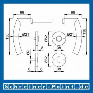 Hoppe Trondheim Edelstahl Rosettengarnitur F69 E1430Z/42KV/42KVS, 2821195, 3039576, 2821208, 2821232, 3039584, 2821427 - Vorschau 5
