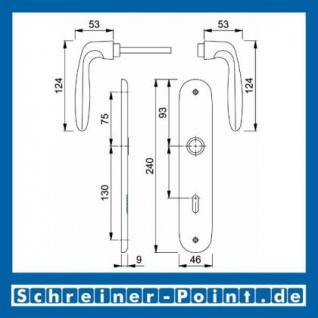 Hoppe Verona Aluminium Langschildgarnitur F1 Natur 1510/273P, 2962220, 6659221, 2962238, 2962246, 8005688, 2806585 - Vorschau 5