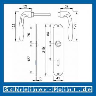 Hoppe Verona Messing poliert F71 Langschildgarnitur M151/302, 2803667, 6375331, 2803704, 6991103, 2803763, 6492599, 2804441, 6375406 - Vorschau 2