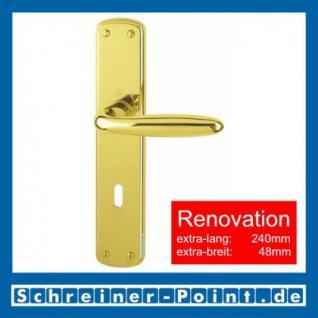 Hoppe Verona Renovation-Garnitur Messing poliert F71 M151/3005, 8019705, 8025470, 8025488