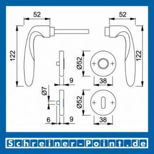 Hoppe Verona Messing matt verchromt F98 Rosettengarnitur M151/42KV/42KVS, 2749533, 6492631, 2749541, 2749550, 6440168, 2749592, 6440184 - Vorschau 2
