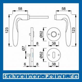 Hoppe Verona Edelstahl Rosettengarnitur F69 E1800Z/42KV/42KVS, 2821363, 2821494, 2821507 - Vorschau 5