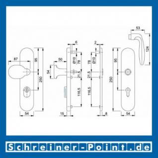 Schutzbeschlag Hoppe Verona Aluminium F2 Neusilber 86G/3332ZA/3330/1510 ES1 (SK2), 3284011, 3233061 - Vorschau 2