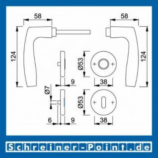 Hoppe Vitoria Aluminium Rosettengarnitur F1 Natur 1515/42KV/42KVS, 2783230, 3039621, 2783310, 2783336, 3039648, 2784136 - Vorschau 5