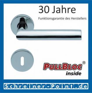 Scoop Jade I PullBloc Rundrosettengarnitur, Rosette Edelstahl poliert