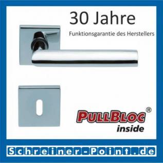Scoop Jade I quadrat PullBloc Quadratrosettengarnitur, Rosette Edelstahl poliert