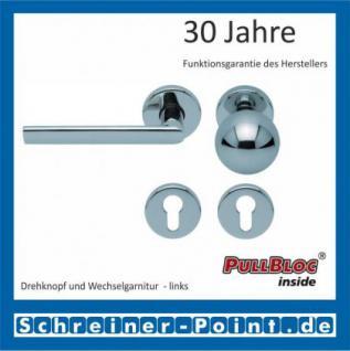 Scoop Jade II PullBloc Rundrosettengarnitur, Rosette Edelstahl poliert - Vorschau 5