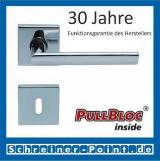 Scoop Jade II quadrat PullBloc Quadratrosettengarnitur, Rosette Edelstahl poliert