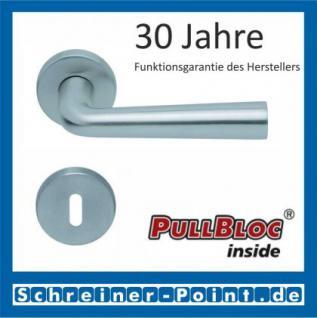 Scoop Jericho PullBloc Rundrosettengarnitur, Rosette Edelstahl matt