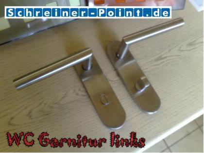 Kurzschildgarnitur L-Form Edelstahl - Vorschau 3