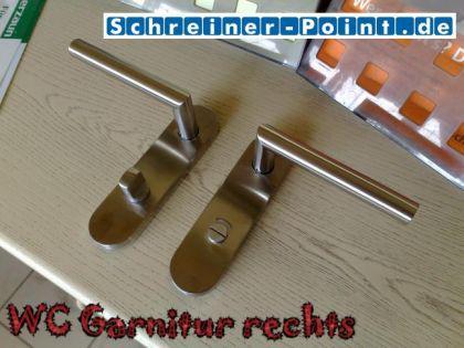 Kurzschildgarnitur L-Form Edelstahl - Vorschau 4