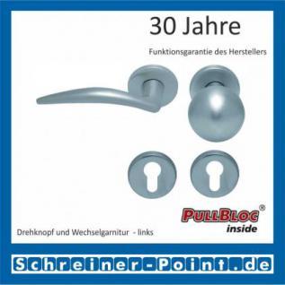 Scoop Lima PullBloc Rundrosettengarnitur, Rosette Edelstahl matt - Vorschau 5