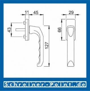Hoppe London Aluminium Fenstergriff F1 Natur 013/U34, 790609, 1654081 - Vorschau 2