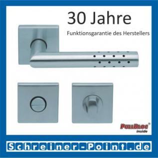 Scoop Lup quadrat PullBloc Quadratrosettengarnitur, Rosette Edelstahl matt! - Vorschau 3