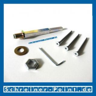 Hoppe Befestigungs-Set für Schutzbeschläge 10/92mm, sichtbare Verschraubung, Türstärke 52-57 mm, 3406655