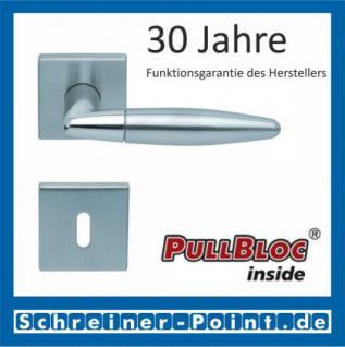 Scoop Optima quadrat PullBloc Quadratrosettengarnitur, Edelstahl poliert/Edelstahl matt, Rosette Edelstahl matt - Vorschau 1
