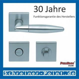Scoop Optima quadrat PullBloc Quadratrosettengarnitur, Edelstahl poliert/Edelstahl matt, Rosette Edelstahl matt - Vorschau 3