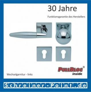 Scoop Optima quadrat PullBloc Quadratrosettengarnitur, Edelstahl poliert/Edelstahl matt, Rosette Edelstahl poliert - Vorschau 5