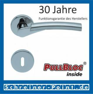 Scoop Rocket PullBloc Rundrosettengarnitur, verchromt/nickelmatt, Rosette Edelstahl poliert