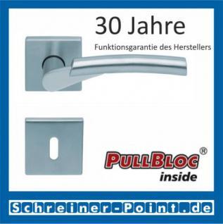 Scoop Rocket quadrat PullBloc Quadratrosettengarnitur, verchromt/nickelmatt, Rosette Edelstahl matt