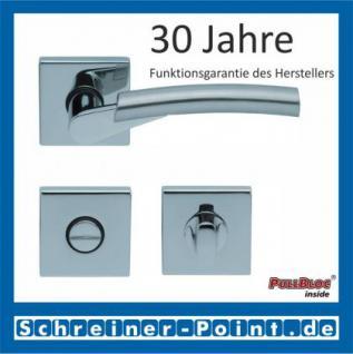 Scoop Rocket quadrat PullBloc Quadratrosettengarnitur, verchromt/nickelmatt, Rosette Edelstahl poliert - Vorschau 3