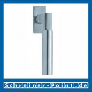 Scoop Bauhaus Fenstergriff Edelstahl matt Rosette eckig - Vorschau