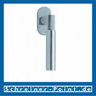 Scoop Bauhaus Fenstergriff Edelstahl matt Rosette oval,101641 - Vorschau