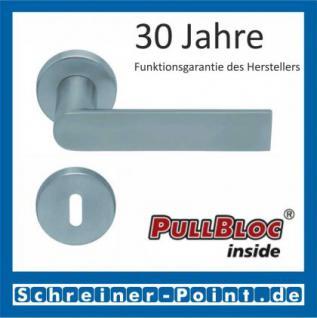 Scoop Semi PullBloc Rundrosettengarnitur Rosette Edelstahl matt - Vorschau 1
