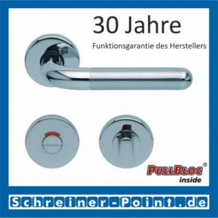 Scoop Tanja PullBloc Rundrosettengarnitur, Edelstahl poliert/Edelstahl matt, Rosette Edelstahl poliert - Vorschau 4