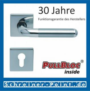 Scoop Tanja quadrat PullBloc Quadratrosettengarnitur, Edelstahl poliert/Edelstahl matt, Rosette Edelstahl poliert - Vorschau 2