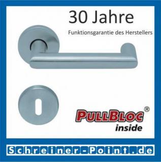 Scoop Thema U PullBloc Rundrosettengarnitur, Rosette Edelstahl matt