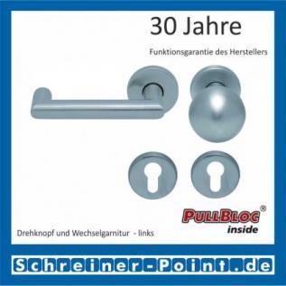 Scoop Thema U PullBloc Rundrosettengarnitur, Rosette Edelstahl matt - Vorschau 5