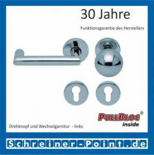 Scoop Thema U PullBloc Rundrosettengarnitur, Rosette Edelstahl poliert - Vorschau 5